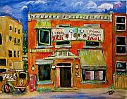 L Montreal Paintings - the Other Bagel Factory by Michael Litvack