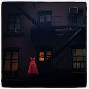 Nyc Digital Art - The Red Gown by Natasha Marco