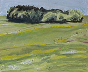Impressionism Originals - The small forest On The Field by Francois Fournier
