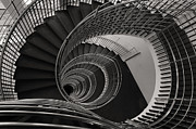Flight Of Stairs Posters - The Staircase Poster by Roni Chastain