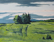 Field. Cloud Paintings - The Trail On The Grass by Francois Fournier