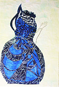 African Ceramics Ceramics Prints - The Wise Virgin Print by Gloria Ssali