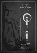 Thomas Edison Electric Lamp Patent Drawing From 1880 Print by Aged Pixel