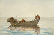 Winslow Homer - Three Boys in a Dory with Lobster Pots by Winslow Homer