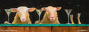 Drinking Painting Framed Prints - Three Sheeps To The Wind... Framed Print by Will Bullas