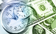 Finance Photo Prints - Time is money Print by Les Cunliffe