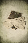 Glove Metal Prints - Time To Read Metal Print by Joana Kruse