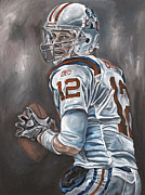 Patriots Painting Prints - Tom Brady Print by David Courson