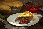 Beef Photo Posters - Tourtiere meat pie Poster by Elena Elisseeva