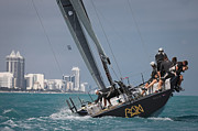 Sailboat Ocean Photos - TP52 Regatta by Steven Lapkin