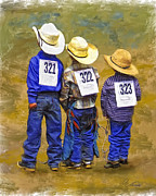 Western Art Photos - Triple Threat by Robert Albrecht