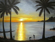 Ltd. Edition Framed Prints - Tropical  Splendor  Framed Print by Shasta Eone