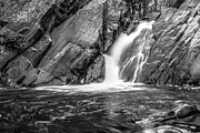 Black Art Art - Trues Brook Gorge Water Fall by Edward Fielding