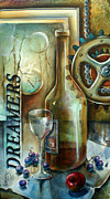 Wine Bottle Paintings - Untitled by Michael Lang