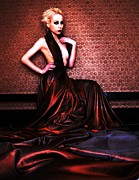 Evening Gown Photo Metal Prints - Untitled Metal Print by Pamela White