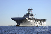 Featured Art - Uss Bataan Arrives At Naval Station by Stocktrek Images