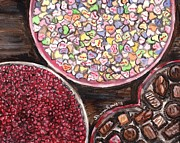 Bowls Paintings - Valentines Day Candy by Shana Rowe