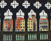 Gondolier Framed Prints - Venice Architecture Framed Print by Yury Malkov