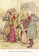 Stories Digital Art Framed Prints - Vintage Art  A Christmas Carol Framed Print by Jake Hartz