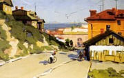 Seaside Mixed Media - Vladivostok Vintage Prints by Jake Hartz