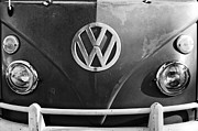 Car Pictures Framed Prints - Volkswagen VW Bus Front Emblem Framed Print by Jill Reger