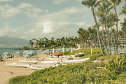 Split Tone Posters - Wailea Beach Maui Hawaii Poster by Sharon Mau