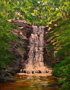 Dingmans Falls Framed Prints - Waterfalls Framed Print by Patrick ODriscoll