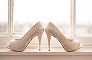 High Heeled Prints - Wedding Shoes Print by Lee Avison