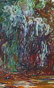 Weeping Willow Posters - Weeping Willow Poster by Claude Monet