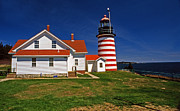 Maine Lighthouses Photo Posters - West Quoddy Lighthouse Poster by Skip Willits