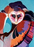 Marlene Burns Paintings - What a Hoot by Marlene Burns