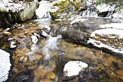 Rushing Stream Acrylic Prints - White Oak Run in Winter Acrylic Print by Thomas R Fletcher