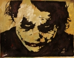 Hero Painting Originals - Why So Serious by Jeremy Moore