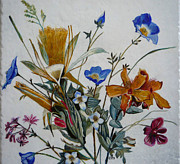 Egg Tempera Paintings - Wildflowers by Catherine Meyers