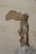 Greek Sculpture Posters - Winged Victory Poster by Carl Purcell