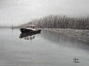Featured Originals - Winter Harbor by Charles Rogers