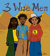 African-american Digital Art - 3 Wise Men by Akinlana Lowman