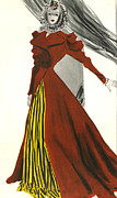 Nineteen Thirties Drawings Posters - WomenÕs Fashion 1930s 1939 1930s Uk Poster by The Advertising Archives