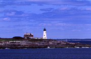 Ocean Images Framed Prints - Wood Island Lighthouse Framed Print by Skip Willits