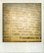 Parchment Framed Prints - Words Framed Print by Les Cunliffe