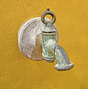 Factory Photos - Worn Brass Spigot of Medieval Europe by David Letts