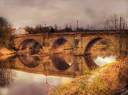 River Tees Prints - Yarm bridge Print by John Adams