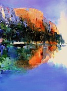 National Park Paintings - Yosemite Valley by Elise Palmigiani