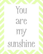 Are Posters - You Are My Sunshine Poster by Jaime Friedman
