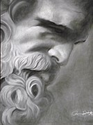 African-american Drawings - Zeus by Adrian Pickett