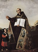 Zurbaran; Francisco De (1598-1664) Framed Prints - Zurbaran, Francisco De 1598-1664. Saint Framed Print by Everett