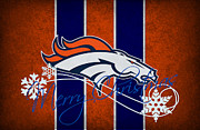 Football Prints - Denver Broncos Print by Joe Hamilton