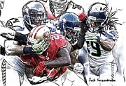 Seahawks Posters - 301 Poster by Jack Kurzenknabe