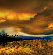 Sunset Seascape Framed Prints - 3088 Framed Print by Peter Holme III