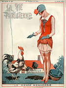 Agriculture Drawings Posters - 1920s France La Vie Parisienne Magazine Poster by The Advertising Archives